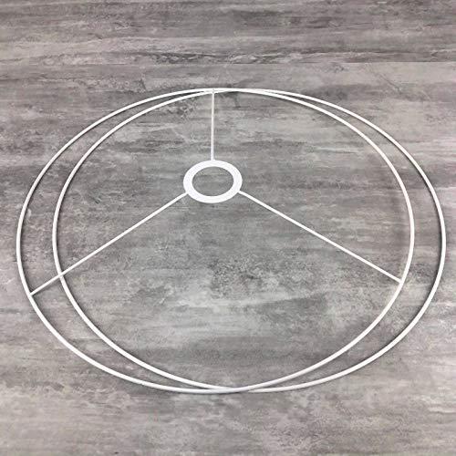 Lealoo - Set de estructura grande de 70 cm de diámetro para lámpara de techo o tulipa de día, anillos redondos epoxi blancos, para portalámparas de 40 mm de diámetro, E27