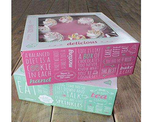FunCakes Cake Box-Quotes-Kuchenschachtel 21 x 21 x 9cm, 2 Stück, Karton