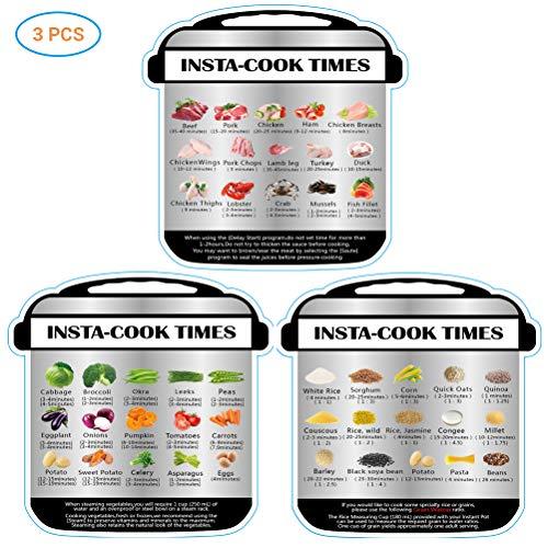 Hihey 3pcs Magnetic Spickzettel Perfect Schnellkochtopf Zubehör für Instant Pot Food Bilder Kochzeiten, guter Küchenhelfer