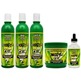 BOE Crece Pelo Fitoterapeutico Natural Shampoo & Rinse & Leave-in & Treatment & Gotero'Set'
