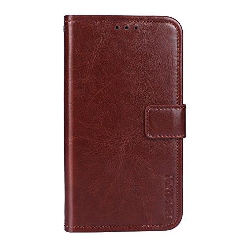 SHIEID Hülle für HTC U12 Life Hülle Brieftasche Handyhülle Tasche Leder Flip Hülle Brieftasche Etui Schutzhülle für HTC U12 Life mit Stand Funktion EIN Stent-Funktion (Braun)