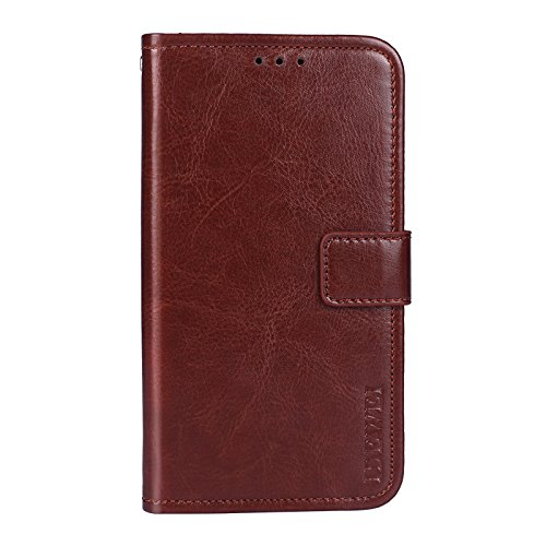 COVO Case for Lenovo K5 Play Case Wallet Leather Flip Case Card Slots Secure Magnetic Closure Lock Leather Case Cover For Lenovo K5 Play(Brown)