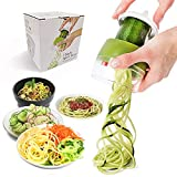 Handheld Vegetable Spiralizer,JHCtech Upgrade 4 in 1 Adjustable Spiral Slicer,Heavy Duty Veggie Spiral