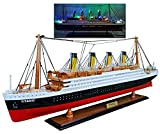 """RMS Titanic Wood Cruise Boat Ship Model 23"""" 60CM with Flashing Light Display Decoration Detailed Handmade Not a Kit TITANIC-60CM"""