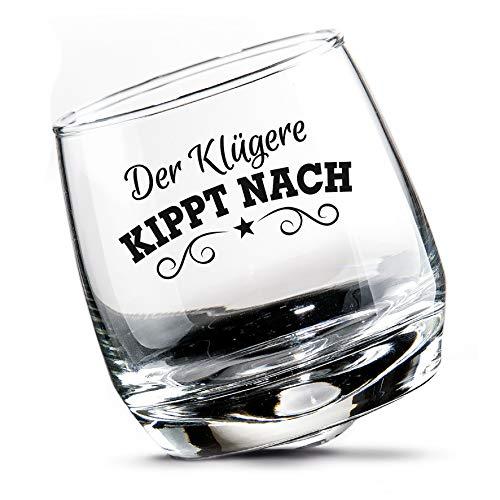2 er Set Whisky-Gläser Rumgläser Wackelglas Schwenkglas in Geschenkbox Höhe 8,5 cm Durchmesser 7,5 cm 200ml Perfekt für Zuhause, Restaurants und Partys Spülmaschinenfest