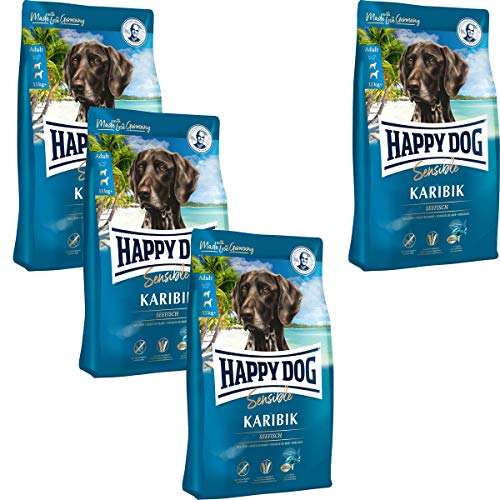 Happy Dog 3 x 12,5 kg + 12,5 kg gratis = 50 kg Supreme Sensible Karibik