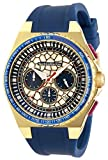 Technomarine Men's Technocell Stainless Steel Quartz Watch with Silicone Strap, Blue, 26 (Model: TM-318067)