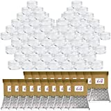 (Quantity: 1000 Pieces) Beauticom 10G/10ML Round Clear Jars with Screw Cap Lid for Acrylic Powder, Rhinestones, Charms and Other Nail Accessories - BPA Free