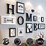 Bilderrahmen-Set 9er Set Fotorahmen,mit Home My Love Buchstaben,4 Größen:3pcs-8.8 * 12.8cm,2pcs-12.8 * 17.8cm,2pcs-19.8 * 24.8cm,kreative Restaurant Hintergrund Wanddekoration (Color : D)