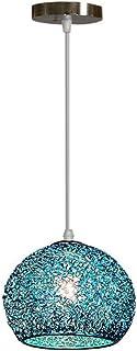 Pendentif Lampe Moderne Aluminium Abat jour - Lustre Suspension Luminaire Boule en Métal Coloré Lampe de Plafond Salon Cha...