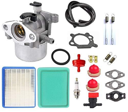 MDAIRC Carburetor Tune-up kit with Air Fuel Filter Line Shutoff Valve for Briggs& Stratton 794304 796707 799866 790845 799871 Craftsman Toro