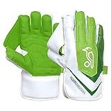 KOOKABURRA Unisex-Youth 2020 LC 5.0 Wicket Keeping Gloves, White/Green, Junior