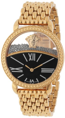 Versace Women's 93Q80BD008 S080 'Krios' Rose Gold Ion-Plated Stainless Steel Micro-Sphere Bracelet Watch