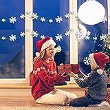 Matogle 3er hängende weiße Papier Schneeflocken 3 x 3 Meter Weihnachten 3D Girlande Schneeflocken Deko zum aufhängen, wiederverwendbar und dekorativ, für Winterparty Outdoor Neujahr Hochzeit - 2
