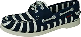 Sebago Spinnaker Stripe Womens Deck Canvas Boat Shoes