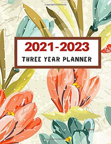2021-2023  Three Year Planner Alium: 2021-2023 Monthly Planner, Monthly Calendar Planner, Monthly Schedule Organizer- Agenda Planner for the Next ... inches (3 Year Diary/3 Year Calendar/Logbook)
