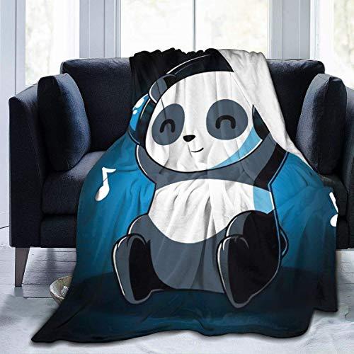 Manta de Lana para Escuchar música Cozy Shaggy Throw Blanket Manta de Microfibra de Felpa Unisex para sofá de Cama