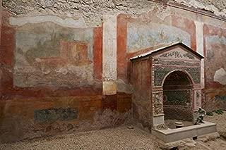 Home Comforts Image Antiquity Italy Naples Pompeii Fresco Vivid Imagery Laminated Poster Print 11 x 17