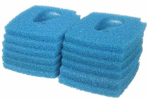 LTWHOME Blauer Rauher Filterschwamm Passend für Eheim Professional 3e 2076/2078/450/700/600T(12 Stück)