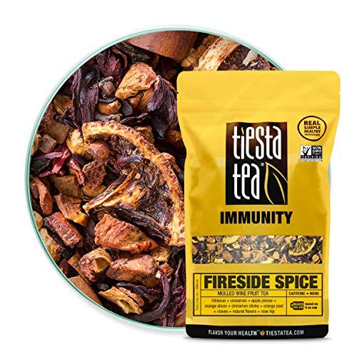 Tiesta Tea - Fireside Spice, Loose Leaf Mulled Wine Herbal tea, Non-Caffeinated, Hot & Ice Tea, 1 lb Bulk Bag - 200 Cups, Natural, Flavored, Immune System Support, Herbal Tea Loose Leaf