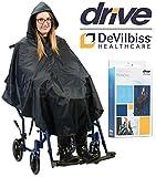 Drive - Poncho impermeable para silla de ruedas con dobladillo plano