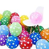 Spotty Globos de látex de 100 unidades, 15,7 pulgadas, multicolor, para fiestas, cumpleaños, bodas, fiestas, celebraciones u otras ocasiones especiales.