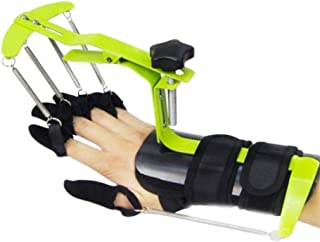 RanBow 成人指分離器 フィンガーブレー エクササイザー サポート トレーナー 矯正器 分指器 指 手首 フィンガー リハビリテーション トレーニング 左右手通用 自動受動一体化 訓練装置 グリーン