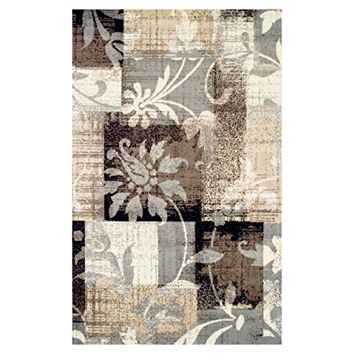 SUPERIOR Pastiche Collection Area Rug - Jute Backing, Geometric Modern Area Rug, Neutral Color, Affordable Rug, 8' x 10'