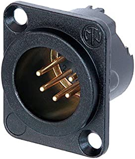 Neutrik NC5MD-LX-B 5 Pin XLR DMX Male Panel Mount D Series Black