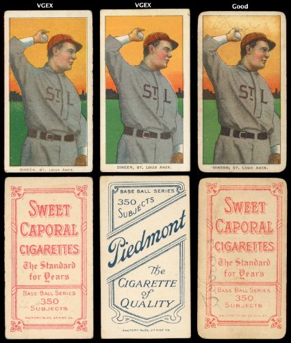 1909 t206 tobacco (baseball) Card# 126 Bill Dineen of the St. louis amer Good Condition