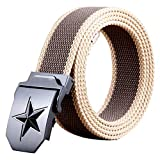 Cinturón de Hombre Ancho 3,8 cm Aleación de Verano Hebilla automática Joven Mediana Edad cinturón elástico Moda diseño clásico Adecuado para Negocios y Ocio