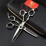 Set di Forbici da Taglio per Capelli Sinistro, Stylist da 6,0 per Barbiere di Assottigliamento, 440C Cesoie per Parrucchieri in Acciaio Inossidabile Giapponese, per Il Parrucchiere