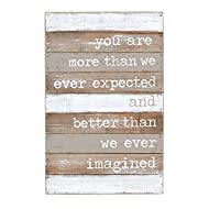 Mud Pie Better Than We Imagined Nursery Wall Plaque, Gray