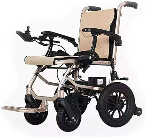 Aluminum Electric Lightweight Wheelchair,Open/Fold in 3 Second,17.71inch Wide Seat,Weighs only 14kg