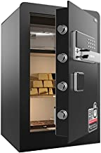 Safe Home Small Storage Cabinet Office Electronic Safe Alarm Locker Adult Cash Box Key Safe, Fire Safety (Color : Black, S...