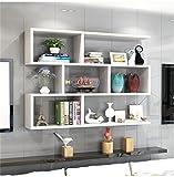 zhilian® soggiorno camera da letto scaffale di stoccaggio cremagliera parete in legno a parete a parete pensile combinazione mensola decorazione della parete di design in stile moderno