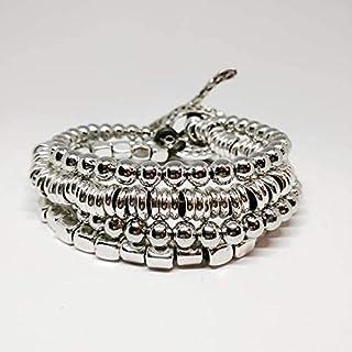 Pulsera mujer color plata y cuero para mujeres estilo uno de 50 pulseras tous pulsera lotus pulsera actividad mujer. Regal...