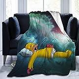 xusheng Fleece Decken Die Simpsons Homer Jay Simps