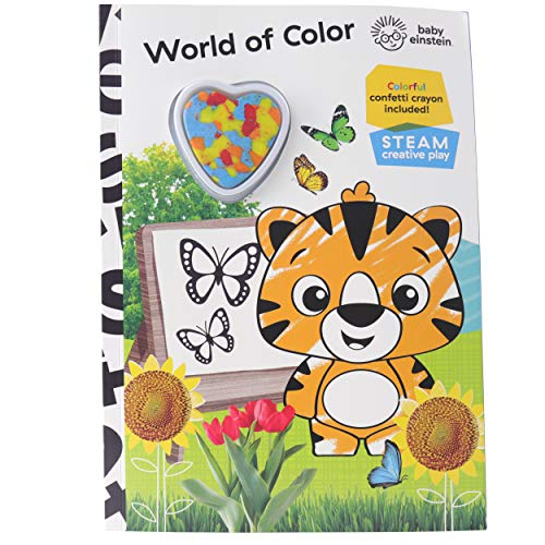 Baby Einstein - World of Color Creative Play Steam Activity Book - Colorful Confetti Crayon Included!