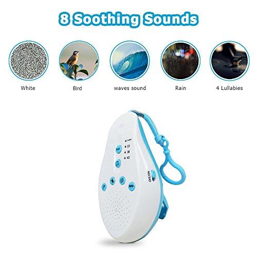 DUBAOBAO baby-wit ruis geluid slaap Pinzido-spraakopnamefunctie sensor 8 rustgevende muziek timer babyfon ontspannen