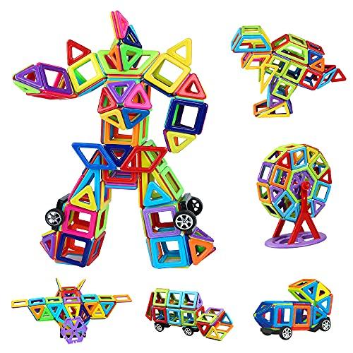 Magnetische Bausteine 109tlg Mini Magnetic Bauklötze Baukasten Kinder | Tolles Geschenk Lernspielzeug für Kinder ab 3 Jahre | Perfekt für den Einsatz zu Hause, in Schulen, Kindertagesstätten