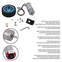 ロボット用電気玩具用スマートカー用大型トルクDC24VエンコーダーギアモーターDIY(Speed 50)