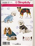 Simplicity 3939 Sewing Pattern Use to Make Dog Clothes in Three Sizes - Woofy Wear by Wendy