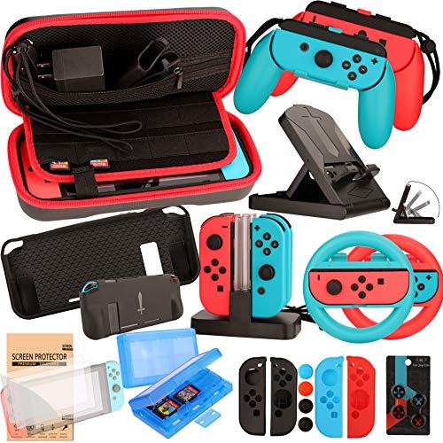 Kit Accesorios para Nintendo Switch - Funda Protector de Pantalla para Switch...