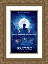 Krampus 18x24 Double Matted Gold Ornate Framed Movie Poster Art Print