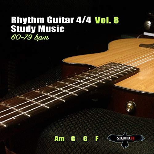 Rhythm Guitar 4/4 Am G G F 60 bpm, Vol.8, Pt.1