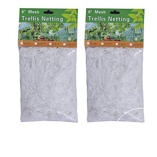 Aodow 2 Pack 5 X 15Ft Trellis Netting, Heavy-Duty Polyester Plant Trellis Netting, Support for Climbing Vining Plants