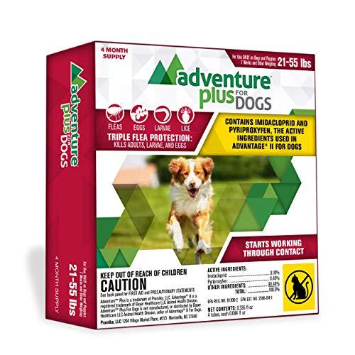 Adventure Plus Flea Prevention for Dogs, Topical Flea Treatment and Control (4 Dose, Large (21-55 lb))