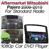 TUNEZ® 7 Zoll Doppel Din Autoradio MP3 MP4 USB CD DVD Player Stereo Radio Hauptgerät Kompatibel Mit Mitsubishi Pajero 2007 2008 2009 2010 2011 2012 2013 2014 2015 Faszien Kit
