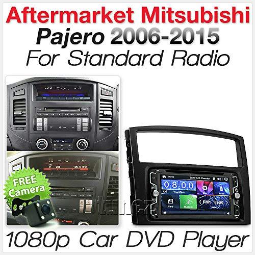 TUNEZ® 7 Pouces Double Din Car Audio MP3 MP4 USB Lecteur CD DVD Radio stéréo Compatible avec Mitsubishi Pajero 2007-2015 Kit Fascia d'unité de tête CD
